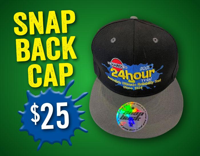 24hr trial snap back cap